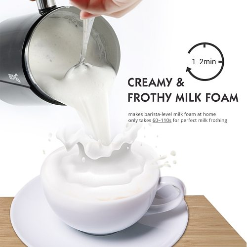 DEVISIB Milk Frother 3 in 1 Electric Steamer for Making Latte Cappuccino Automatic Warmer Coffee Foamer Heater Hot Cold