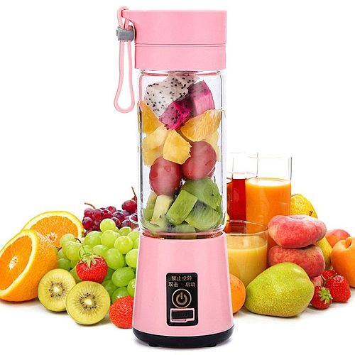 Portable Size USB Electric Fruit Juicer Handheld Smoothie Maker Blender Stirring Rechargeable Mini Portable Juice Cup Water