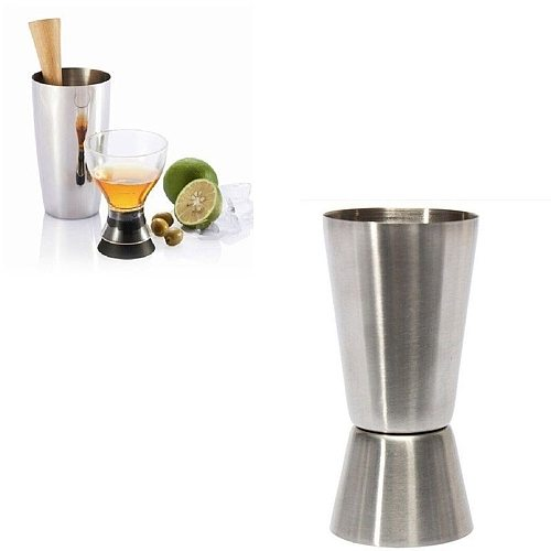 35#Measuring cup 2020 Jigger Single Double Shot Short Drink Spirit Measure Cup Cocktail Bar Party Wine