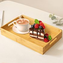 Fruit Storage Pallet Food Rectangular Japanese Wooden Bamboo Serving Saucer Wood Plate for Hotel Home Tray Plate Tea Breakfast