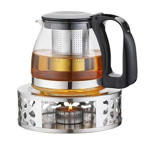Portable Warmer Tea Holder Durable 430 Stainless Steel Candle Warmer Tea Light Holder Trivets Coffee Warmer Teapot Heating Base