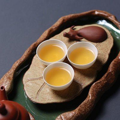 New Chinese Style Tea Saucers Tea Tray Ceramic tea ceremony Lotus Teapot Hoder Heat-Insulating Tea Set teaset teaware