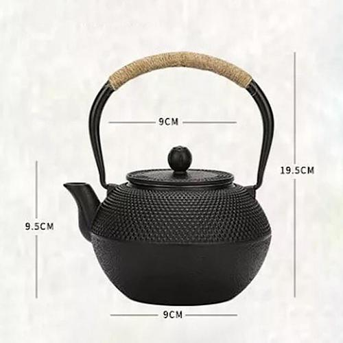 Chinese Traditional Style Iron Tea Pot with Stainless Steel Infuser Cast Iron Teapots Tea Kettle for Boiling Water Green Tea pot
