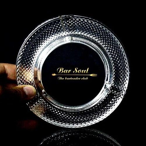 Bar Soul Creative Glass Ashtray Exquisite Ashtray Cigar Tools Cigar Aficionado Bar Tools Smoker