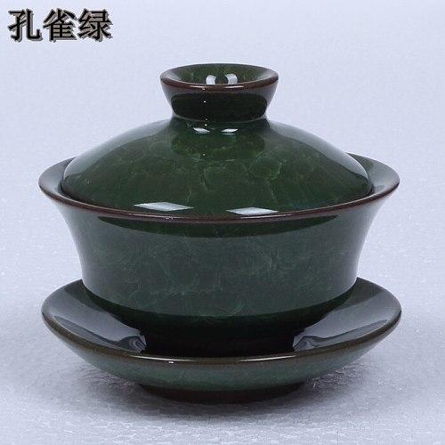 Ice glazed tea bowl  Ceramic Kung Fu tea set  ice crack glaze bowl  purple clay tea cups~