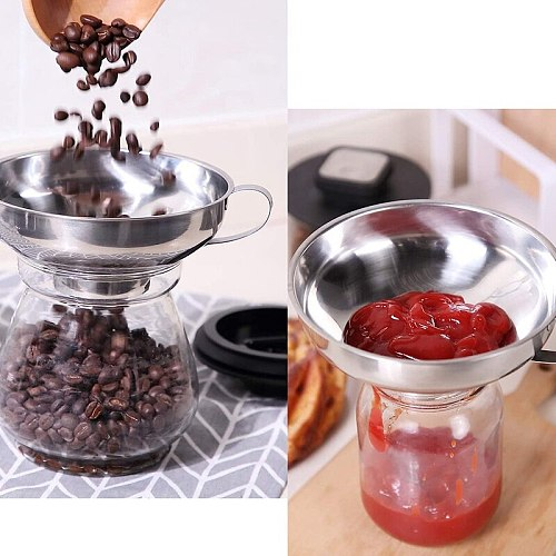 4 Pieces Canning Funnel and Can Lifter Set Small Funnel Kitchen Can Funnel Suitable for All Kinds Of Cans