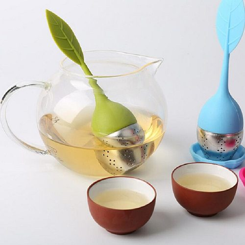 1 Pcs Tea Infuser Stainless Steel Tea Ball Leaf Tea Strainer For Brewing Device Herbal Spice Filter With Silicone Handle