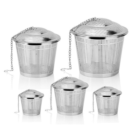 304 Stainless Steel Filter Tea Ball Strainer Mesh Herbal Infuser Leaf Spice for Teapot Kitchen Tool 10pcs/Lot