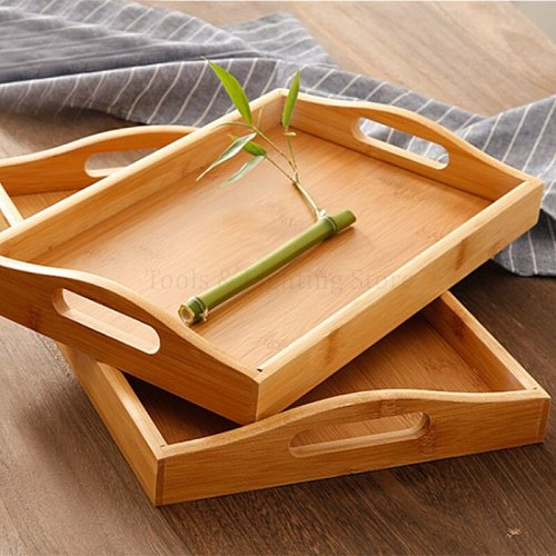 Serving tray bamboo Great for dinner trays tea tray food tray breakfast Tray good for parties or bed tray