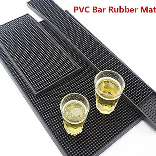 Non-slip Bar Rubber Mat PVC Pad Coaster Kitchen Placemat Bar Rectangle Mat Cup Mug Set Beer Whiskey Waterproof Bar Accessories