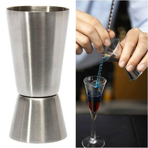 Cocktail Drink Cup Stainless Steel Double Single Shot Measure Jigger Spirit Cocktail Drink Cup New