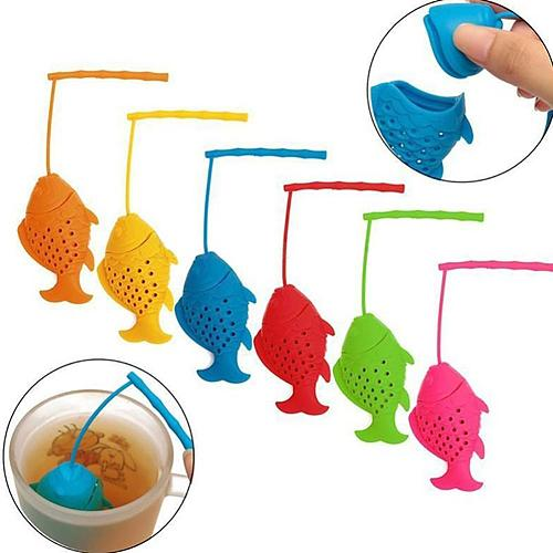 Creative Fish Silicone Infuser Tea Leaf Strainer Filter Diffuser Kitchen Tool Infuser Tea Strainer Filter Diffuser Kitchen Tool