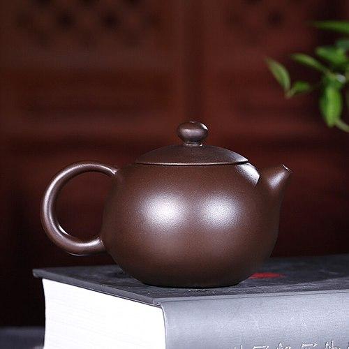 120ML China Yixing Teapot Zisha Xishi Tea Pot Handmade Kettle Purple Clay Suit Tieguanyin Puer Kettle Tea Table Decoration