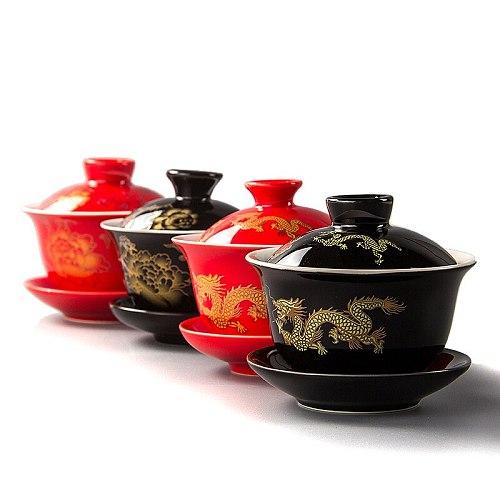80ML Red Teapot Ceramics Gai Wan Tea China Kungfu Tea Sets Tea Cups Pot Porcelain Wedding banquet Beautiful Kettle Gifts D007