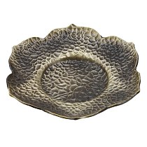 Alloy Teacup Tray Blossom Lotus Maple Leaf Shape Tea cup Mat Mini Coffee Cup Stand Chinese Style Coaster Home Accessories