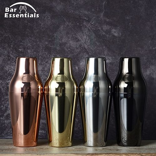 600ml Stainless Steel French Cocktail Shaker Classic and Elegant Bar Cocktail Shaker Bartender Bar Tool