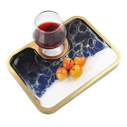 Multipurpose Food Tray Resin Molds Serving Tray Silicone Moulds DIY Epoxy Resin Wine Plate Home Kitchen Decoration Tea Tray