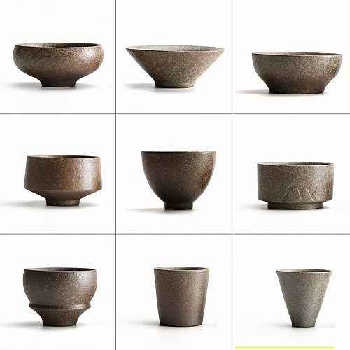 TANGPIN black crockery japanese ceramic tea cup for puer teacups porcelain chinese kung fu cup drinkware