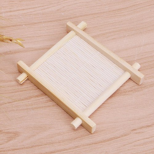 Solid Wood Tea Tray Drainage Cup Teapot Mat Gongfu Tea Table Serving Plate