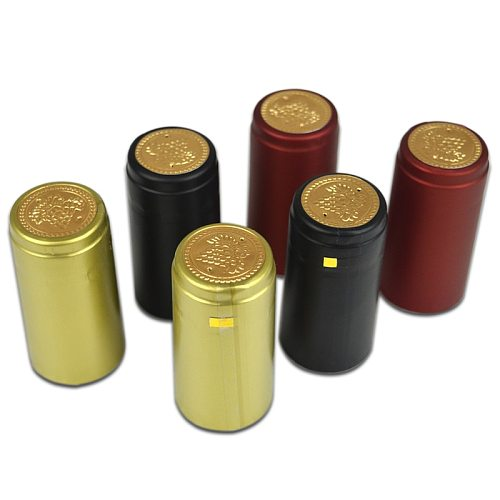 100pcs Pvc Heat Shrink Cap With Tear-off Line Import Row Material Home Brewing Red Wine Bottle Bar Seal DIY Accessories