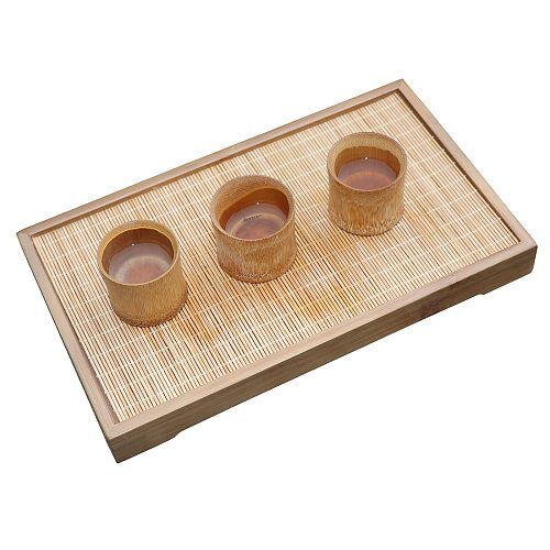 rectangle kung fu tea tray wooden saucer bamboo teapot trivets Drain Tea ceremony container Storage tray tea service set gift
