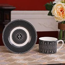 2021 New European Decor Modern Ceramics Coffee Mug Cup Western Bone Porcelain Tableware Decorations Tea Cups Dessert Tray