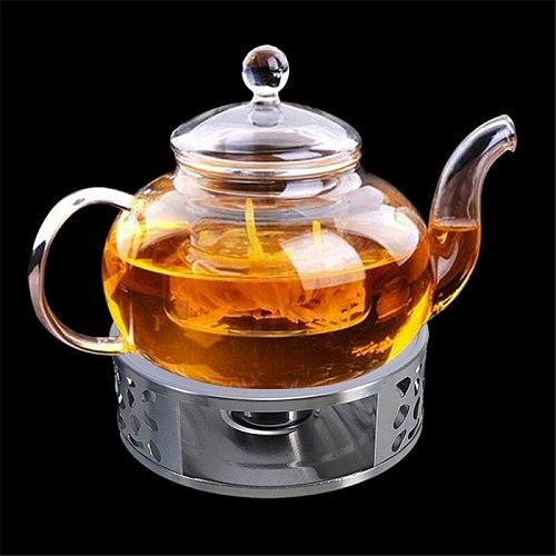 Portable Warmer Tea Holder Durable Stainless Steel Candle Warmer Tea Light Holder Trivets Coffee Warmer Heating Base Teapot Hold