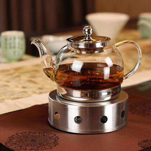 Stainless Steel Teapot Warmer Heating Base Coffee Water Tea Heater Trivets Candle Base  #1114