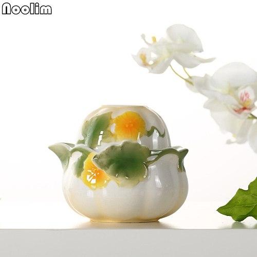 High Quality Handmade Enamel Travel Tea Set Elegant Gaiwan Teapot Beautiful Easy To Carry Tea Pot Portable Kettle Drinkware