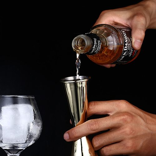 Stainless Steel Ounce Glass Wine Measurer Device Double Head 30/60ML Gold Silver Rose Gold Black Cocktail Glass Bar Accessories