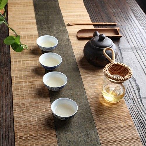 Japanese-style Bamboo Tea Filter Root Bamboo Tea Tea Leak Tea Set Creative Filter Colanders Drinking Strainers