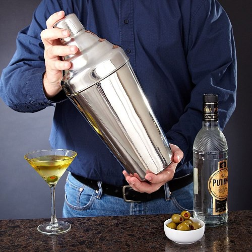 Colossal Cobbler Shaker Extra Large 61oz - 1.8L - 304 Stainless Steel Cocktail Shaker