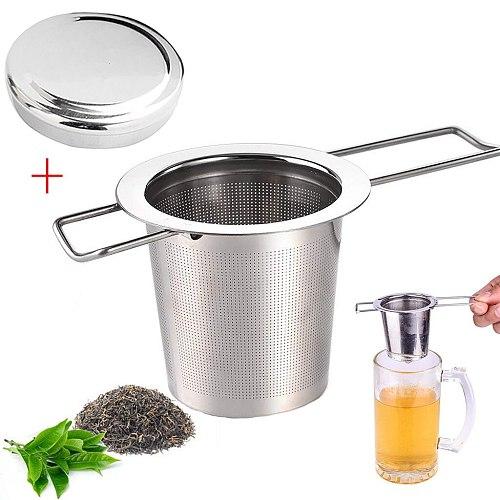 Tea Mesh Infuser Reusable Tea Strainer Teapot Stainless Steel Loose Tea Leaf Spice Filter Drinkware Kitchen Accessories #T2P