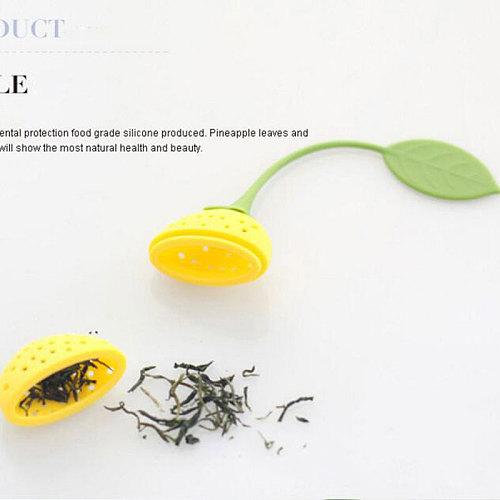 20pcs/lot Silicone Tea Filter Strawberry Shape Tea Strainer Herbal Spice Infuser Tea Leak Kitchen tools