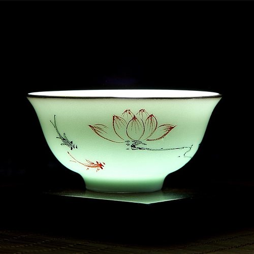 Chinese Celadon Hand-painted Squid Tea Master Kung Fu Teacup Wholesale Drinkware Creatives Home Gifts