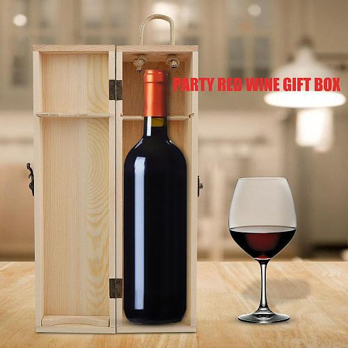 Wooden Red Wine Bottle Box Wine Packing Box Beer Collection For Wine Collectors Office Birthday Gift Bar Accessories