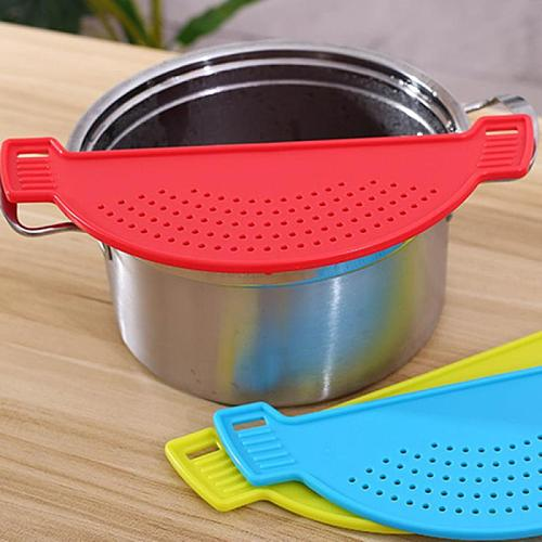 Food Cleaning Strainer Mesh Board Cover Rice Washing Leakproof Filtering Baffle Water Drainer Kitchen Convenience Tools Utensils