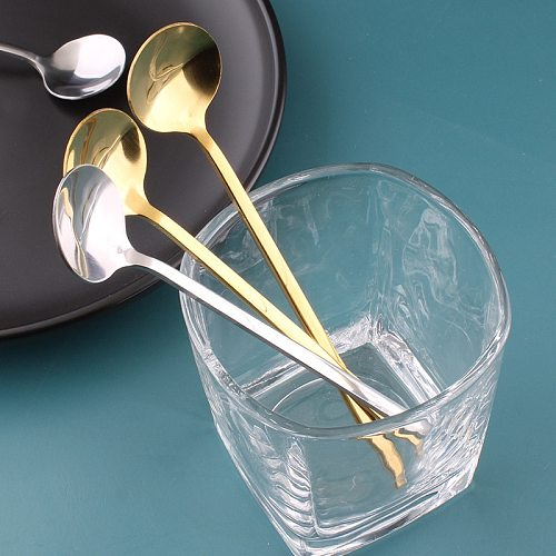 15/17cm Honey Spoons Coffee Mixing Spoon Salad Set Korea Soup Long Handled Teaspoon Scoop Gadget Kitchen Tools Accessoires