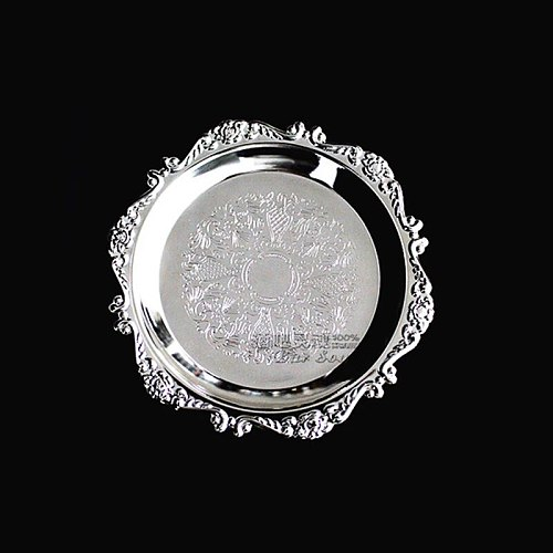 Bar Soul Mental Multifunction Cocktail Coaster Silvery Gold Cocktail Decoration Saucer Creative Drink Coasters Bar Tools