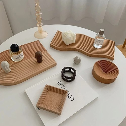 Wooden Breadboard Tray Home Afternoon Tea Tray Dinner Plate Cooking Dishes Cake Dessert Fruit Dessert Fruit Tray