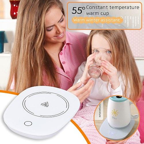 USB Warmer Gadget Cup-Pad Coffee Tea Drink USB Heater Tray Mug Pad Winter Coffee Milk Thermostatic Coaster Cup warmer Portable