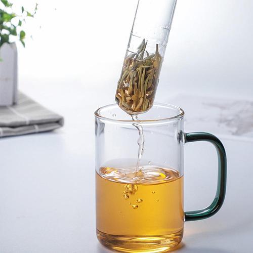 Cork Glass Bottle Transparent Tea Strainer Mini Empty Bottle Tea Infuser Tube Brewing Test Tube for Home Party Office