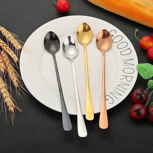 Long Handle Coffee Spoons Stainless Steel Coffee Tea Spoons Stirring Ice Spoon Home Tableware Kitchen Gadgets
