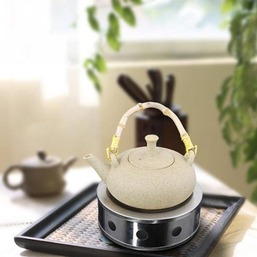 Teapot Warmer Dish Coffee Practical Round Silver Teapot Warmer Candle Base Heater Stainless Steel Trivets