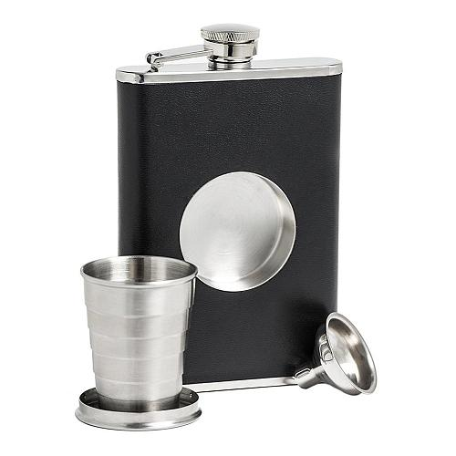 Portable Stainless Steel Hip Flask Creative Folding Telescopic Shot Flask Wine Carrier Container a Funnel Included #CW