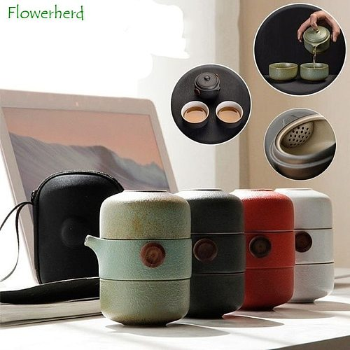 Ceramic Porcelain Teapot & Teacups Travel Office Kung Fu Tea Set Teaware Handmade Portable Chinese Tea Set Tea Pot and Cup Set