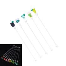 5pcs Acrylic Swizzle Mixing Sticks Bar Cocktail Muddler Drink Mixer Stirring Sticks Bar Tools (Random Color and Style)