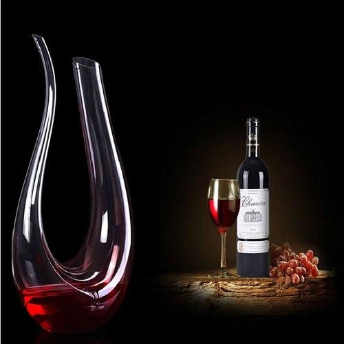 1500ML Big Decanter Handmade Crystal Red Wine Brandy Champagne Glasses Decanter Bottle Jug Pourer Aerator For Family Bar
