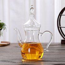 Arabian heat-resistant glass pot, coffee pot, high temperature resistant transparent glass pot,  flower teapot