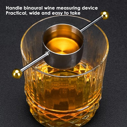 30ML Wine Drinks Measuring Cup Bartender Jigger Bar Tools Stainless Steel Cocktail Ounce Cup Bartending Supplies For Home Bar